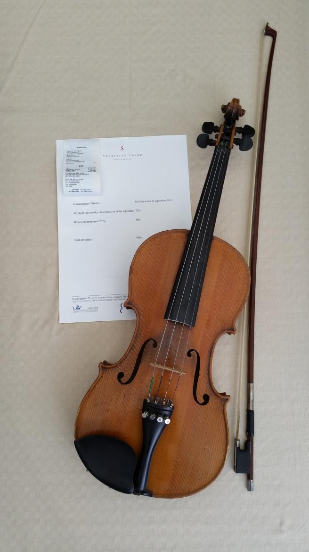 Bild fiol och stråke